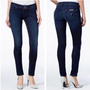 HUDSON Collin Flap Skinny Dark Wash Jeans